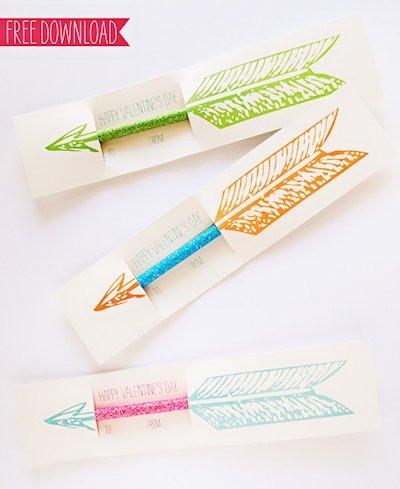 Pencil Arrow Valentine