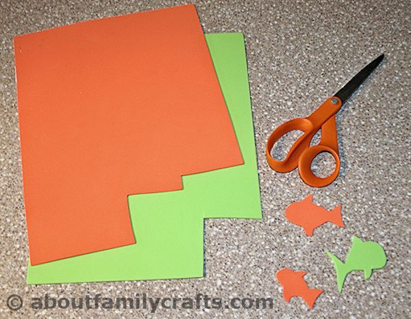 Cut out your craft foam fish