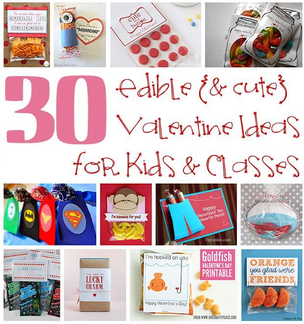 Edible Valentine Ideas for Kids