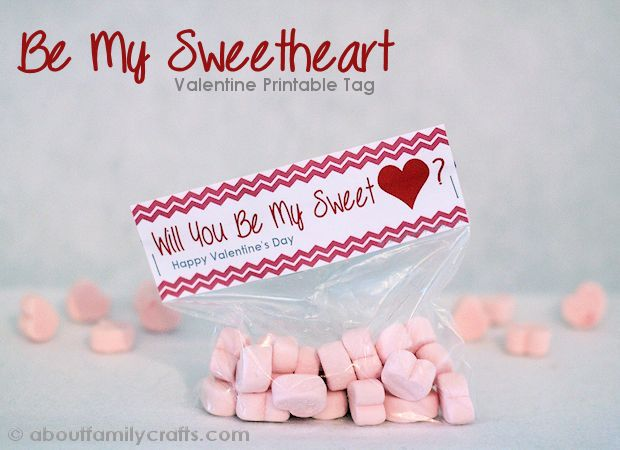 Be My Sweetheart Valentine Treat and Printable