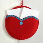 Paper Plate Heart Pocket 150