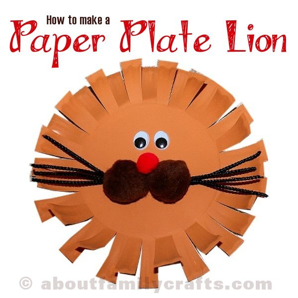 How to Make a Paper Plate Lion Craft