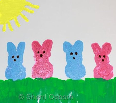 Spring Bunny Painting