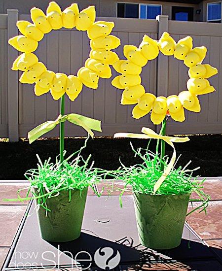 Peeps Sunflower Topiary
