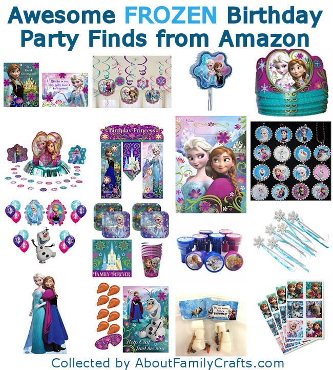 16 Awesome Frozen Birthday Party Finds from Amazon