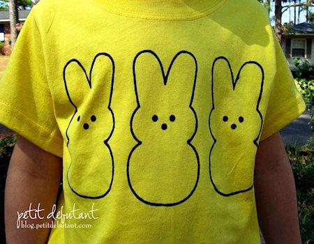 Bunny Peeps Shirt Stencil