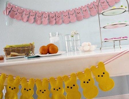Peeps Bunny Bunting and Door Hangers