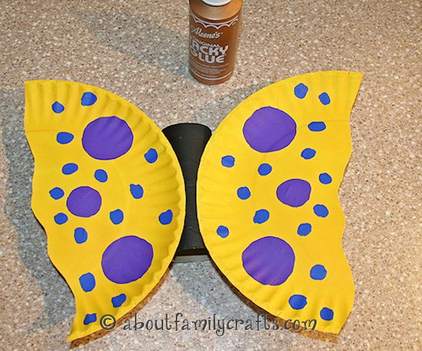 Glue Wings to the Butterfly Body