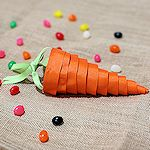 Candy Carrot Cone Craft 150