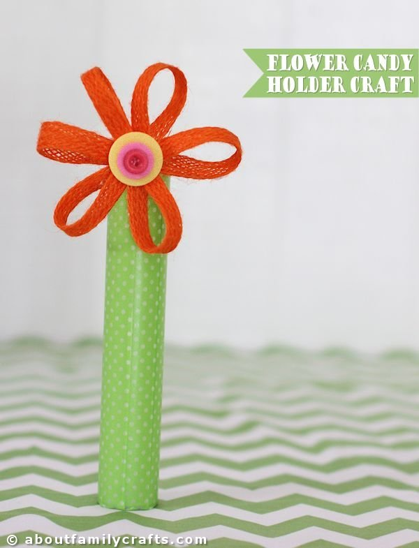 Flower Candy Holder Craft