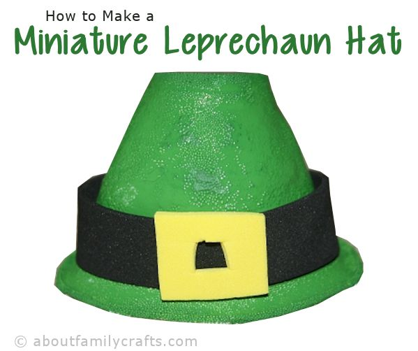 Miniature Leprechaun Hat Craft