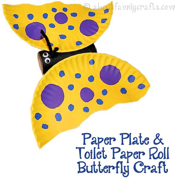 Paper Plate Toilet Paper Roll Butterfly Craft