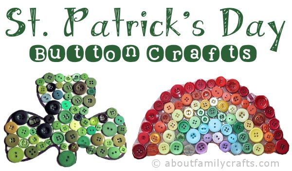 St. Patrick's Day Button Crafts