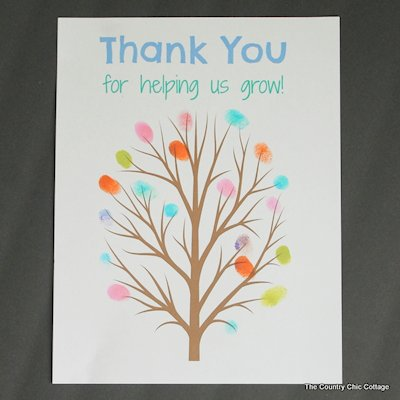 Fingerprint Tree Teacher Gift