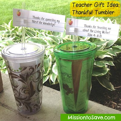Thankful Tumblers Teacher Gift