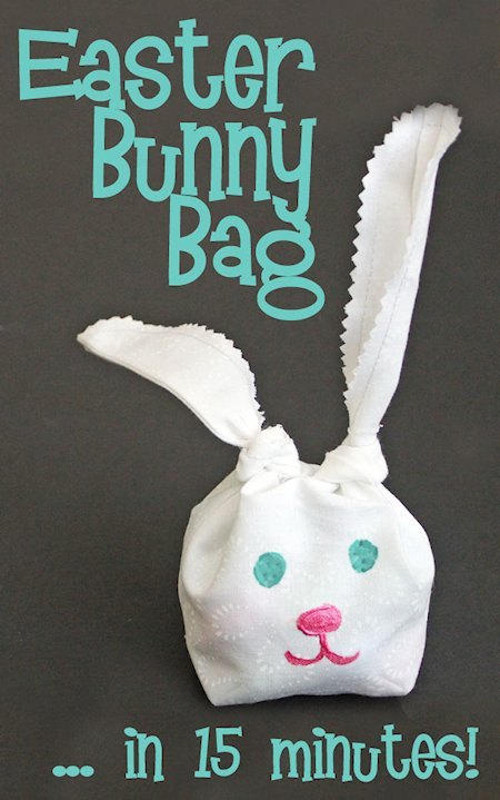 Knotted Easter Bunny Bag