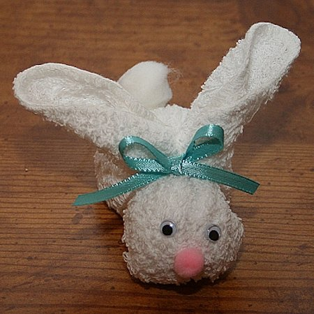 Wash Rag Bunny Craft