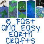 5 fast and easy earth crafts