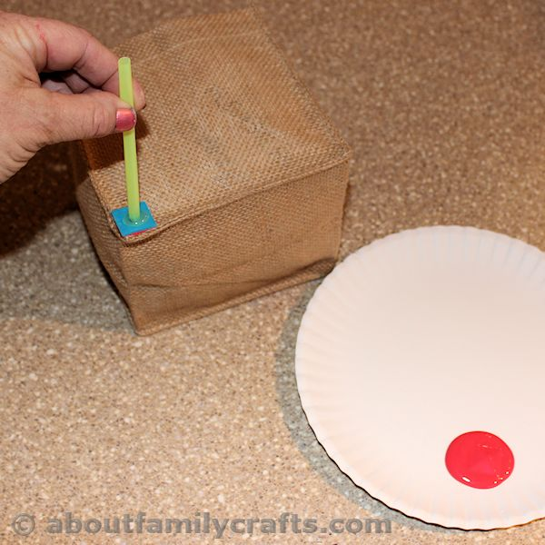 Stmap Your Square onto the Burlap Box