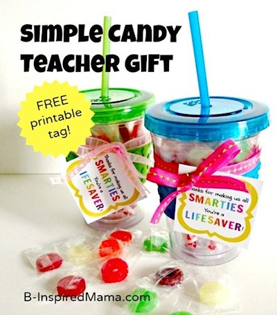 Simple Candy Teacher Gift