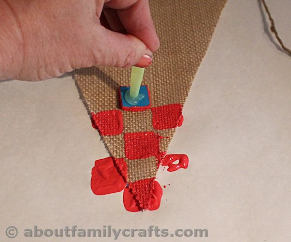 Stamp the Square onto the Bunting