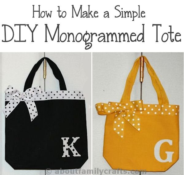 Simple DIY Monogrammed Tote