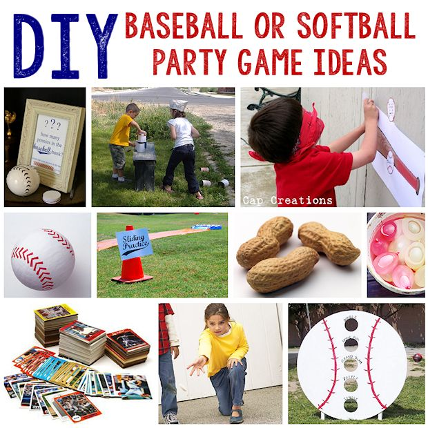 10 Baseball or Softball Party Game Ideas