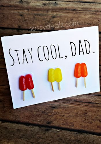 Stay Cool Father's Day card Idea