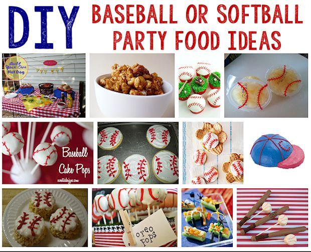 12 Baseball or Softball Party Food Ideas
