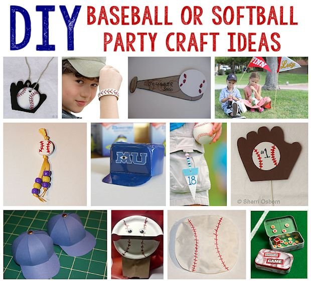 12 Baseball or Softball Party Craft Ideas