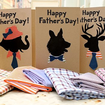 Animal Silhouette Father's Day Card