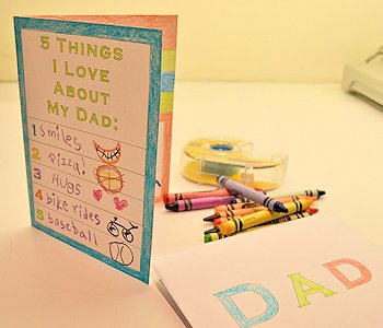 Five Things I Love About Dad Card