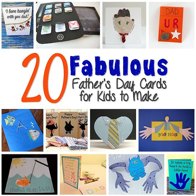20 Fabulous Father's Day Cards for Kids to Make