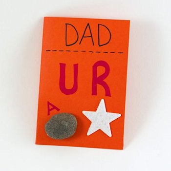 Dad is a Rock Star Card