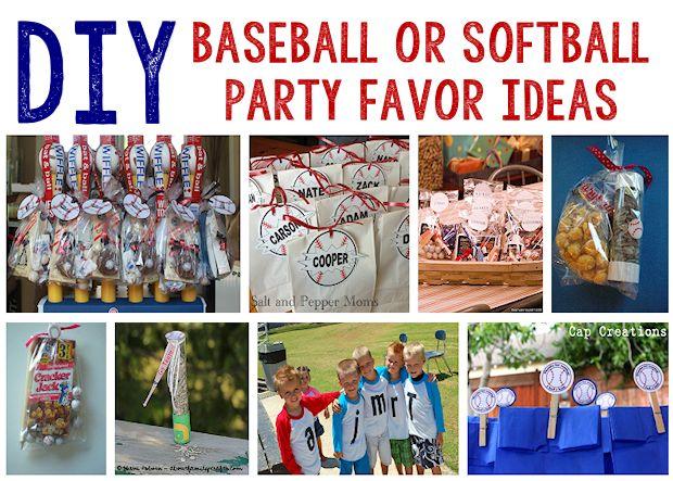 8 Baseball or Softball Party Favor Ideas