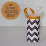 Chevron Plastic Bag Holder 150