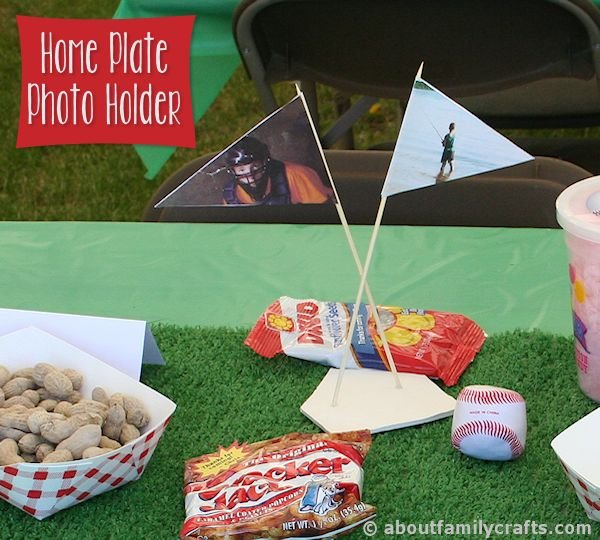 DIY Home Plate Photo Holder