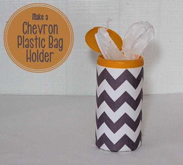 Recycled Chevron Plastic Bag Holder
