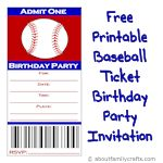 printable baseball ticket invitation 150