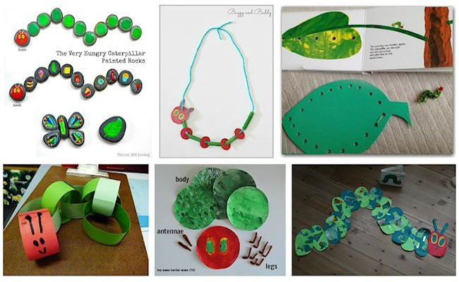 1 very hungry caterpillar crafts