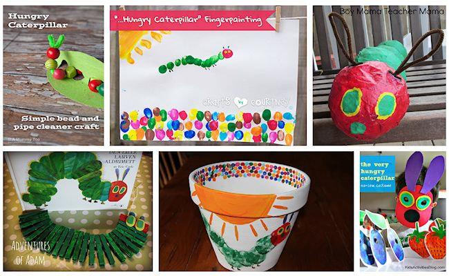 2 very hungry caterpillar crafts