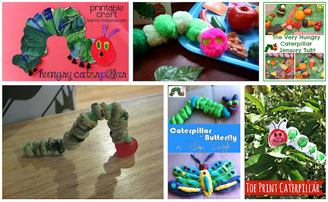 3 the very hungry caterpillar crafts