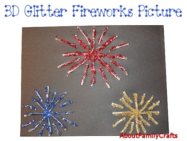 3D Glittering Fireworks Picture