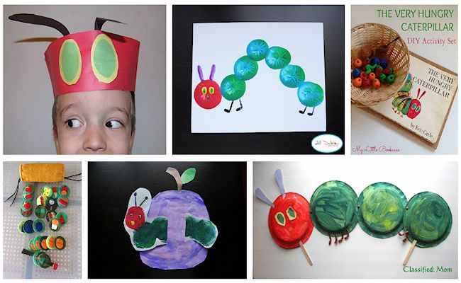 4 very hungry caterpillar crafts