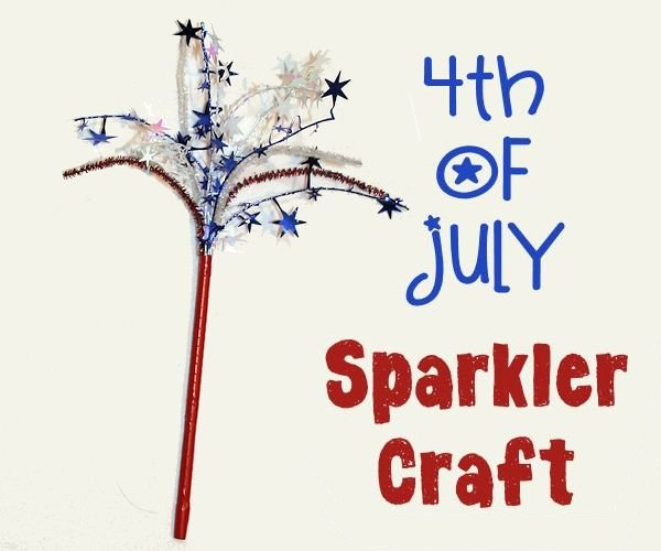 4th of July Sparkler Craft