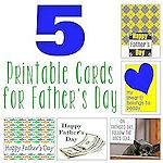 5 Printable Cards for Fathers Day 150