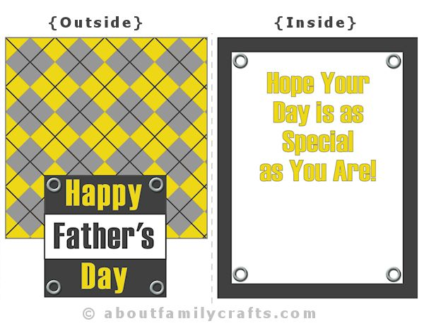 Fathers Day Card Argyle Design