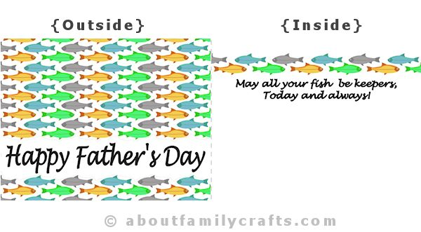 Fathers Day Card Fish Design