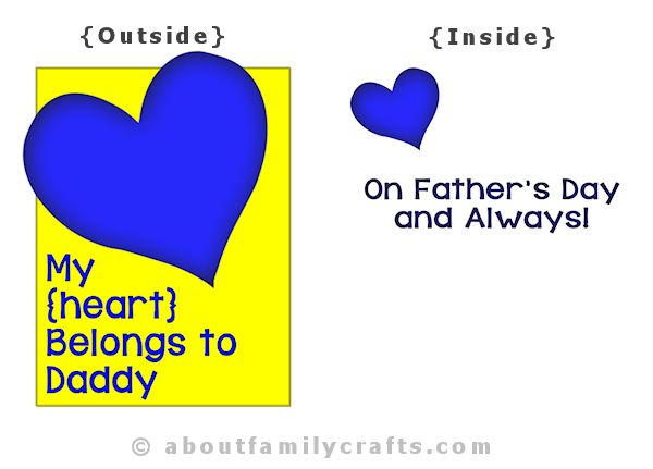 Fathers Day Card Heart Design