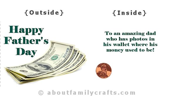 Fathers Day Card Money Design